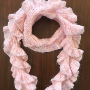 Adorable Pink Ruffle Scarf